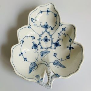 Antique Porsgrund Porcelain 1887 - 1911 Dish